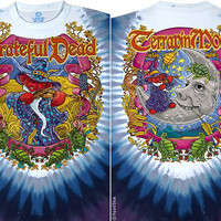Grateful Dead Dancing Bears Terrapin Moon Tie Dye Short Sleeve Shirt  Size XL     hippie SYf  furthur  mens unisex