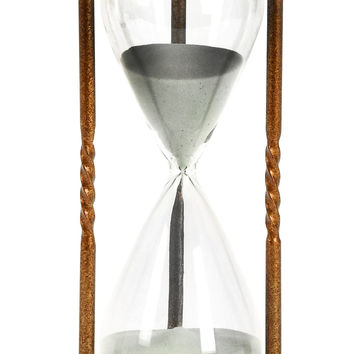 Metal/Glass 60 Minutes Hourglass Nice Looking Table Decor
