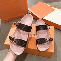 LV LOUIS VUITTON Flat-bottomed open-toed sandals