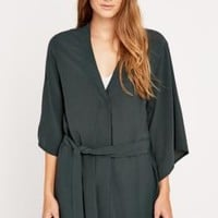 Light Before Dark Green Kimono Tie Blouse - Urban Outfitters