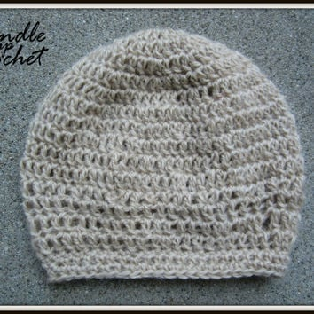 Baby Crochet Hat Baby Girl Boy Beanie Newborn Crochet Toddler Slouchy Beige Tan Neutral