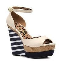 Jessica Simpson Dollie Wedge Striped Sandal