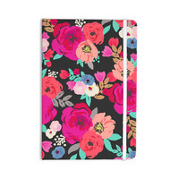 """Crystal Walen """"Sweet Pea"""" - Black Floral Everything Notebook"""
