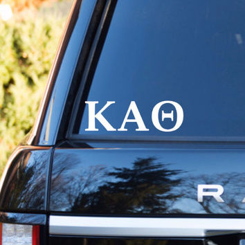 Kappa Alpha Theta Car Decal | Kappa Alpha Theta Car Sticker | Kappa Alpha Theta Sorority | Kappa Alpha Theta Laptop | Greek Car Decal | 165