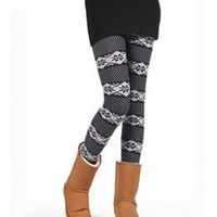 *Free Shipping* White Arrows Pattern Pants Leggings QNSD-16 from clothingloves