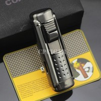 COHIBA 4 Torch Jet Fire Windproof Cigar Lighter Classic Cuban Refillable Cigarette Flame Lighter ALC-86