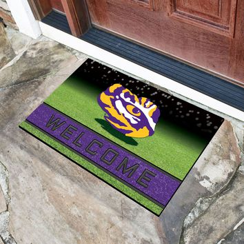 "Louisiana State University 18""x30"" Crumb RubberDoor Mat"