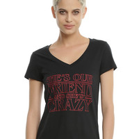 Stranger Things Crazy Friend Girls T-Shirt