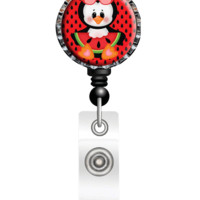 Nina's Lil Bowtique Penguin Watermelon Badge Reel, ID Holder