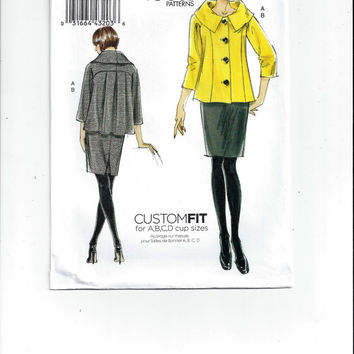Vogue 8623 Pattern for Misses' Jacket & Skirt, Very Easy Vogue, FACTORY FOLDED, UNCUT, 2009, Unused, Home Sew Pattern, Custom Fit, Easy Sew
