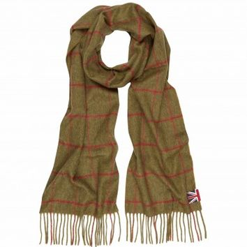 Horse and Hound Check Scarf - Hats & Gloves - Shop by product - Accessories | Hackett