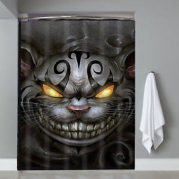 Top Cheshire Cat Alice In Wonderland Movie Custom Shower Curtain Limited Edition