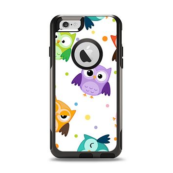 The Cartoon Emotional Owls with Polkadots Apple iPhone 6 Otterbox Commuter Case Skin Set