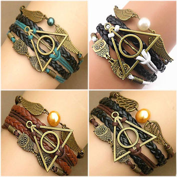 Harry Potter Wings Infinity Bracelet