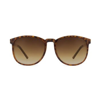 Komono - Urkel Metal Series Tortoise Rose Gold Sunglasses / Polycarbonate Gradient Brown Lenses
