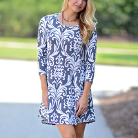 Falling Into Damask Dress