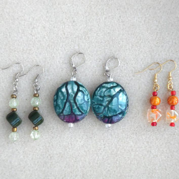 E-21-Handmade Ladies Earrings-Glass Bead Earrings-Gift Ideas-Earring Gift Sets-Handcrafted-Trending Earrings -Beaded Earrings-Ladies Jewelry