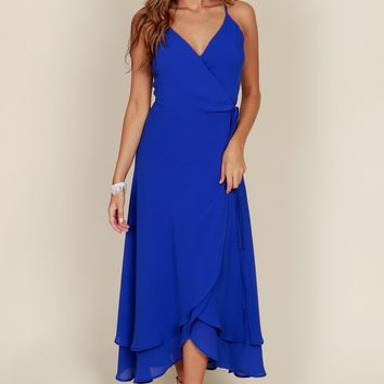 In Deep Maxi Dress Blue