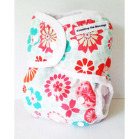 Flower Garden One Size Cloth Diaper Cover