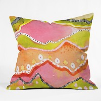 CayenaBlanca Coral Landscape Throw Pillow