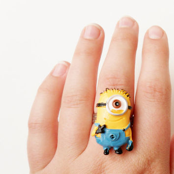 Minion Ring Stuart Despicable Me Jewelry
