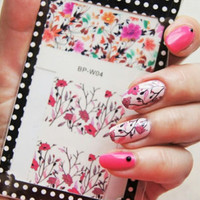 2016 Summer Flower Nail Sticker BORN PRETTY Colorful Flower Nail Art Water Decals Transfer Nail Stickers BP-W04