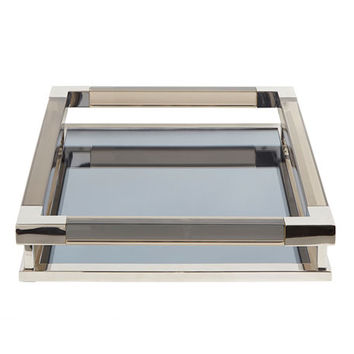 Jonathan Adler Jacques Small Decorative Tray, Nickel | Neiman Marcus