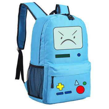 Anime Adventure Time BMO Emoji Printing School Bags for Teenagers Backpacks for Teenage Girls Mochila Feminina Women Backpack