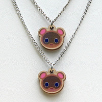 Timmy and Tommy Necklace Set by NaturalPopShop on Etsy