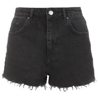 MOTO Washed Black Mom Shorts - Washed Black