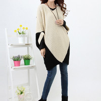 Womens Oversized Sweater Dress Loose Batwing Sleeve Knitted Top Blouse