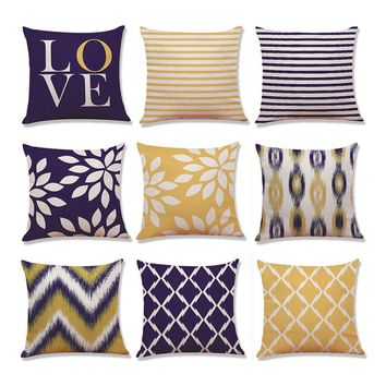 Home Decor Cushion Cover Love Geometry Throw Pillowcase Pillow Covers