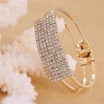 Bracelet Femme 2016 New Fashion Elegant Flash All Over The Sky Star Wristband Bracelets Crystal Bracelet  for Women