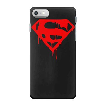 dripping blood superman iPhone 7 Case