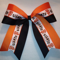 SF Giants Cheer Bow by MsLadysBoutique on Etsy