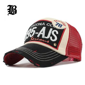 [FLB] Brand Baseball Mesh Cap Men Women Cotton Outdoor Dad Hat Embroidery Casual Sport
