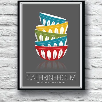 Cathrineholm poster, Kitchen art, Scandinavian design, Minimalist poster, Kitchen decor, Mid Century Modern