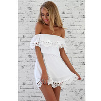 2016 Fashion Women Elegant Vintage Sweet Lace White Dress Stylish Sexy Slash Neck Casual Slim Beach Summer Sundress Vestidos_ 9223