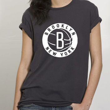 brooklyn nets circle t shirt for Tshirt , Women ,Men