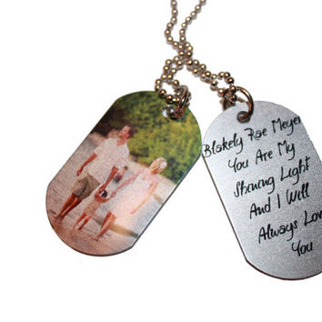 PERSONALIZED PHOTO GIFTS-Great Christmas Gifts- Single Sided or Double Sided Tags--These Photo Tags Make Lasting Memories