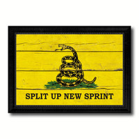 Split Up New Sprint Military Flag Vintage Canvas Print with Black Picture Frame Home Decor Wall Art Decoration Gift Ideas