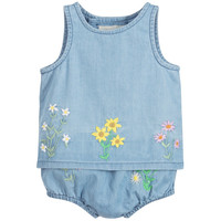 Stella McCartney Baby Girls Embroidered Flowers Set