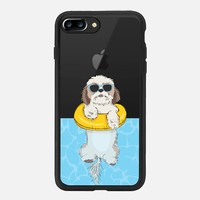 iPhone 7 Plus Case (Jet Black), Swimming Shih Tzu by Megan Roy | Casetify (iPhone 6s 6 Plus SE 5s 5c & more)