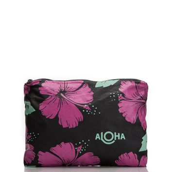ALOHA Collection - Medium Hibiscus Pouch | Pitaya