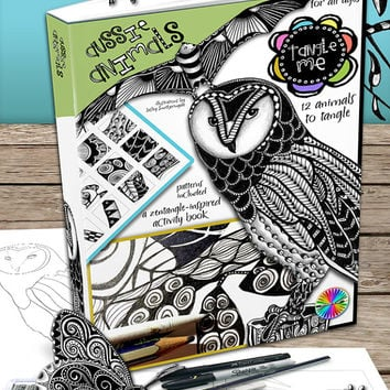 Tangle Me - Aussie Animals - Zentangle-inspired Activity E- Book - Zentangle Art