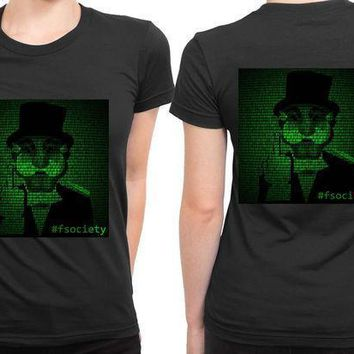Mr Robot Hashtag Fsociety 2 Sided Womens T Shirt