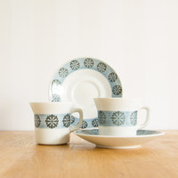 Upsala Ekeby Vega Set of 2 cups and saucers designed by Berit Ternell