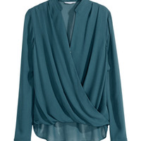 Draped Blouse - from H&M