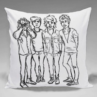 5SOS Sketch  - Square and Regtagular Pillow Case One Side/Two Side.