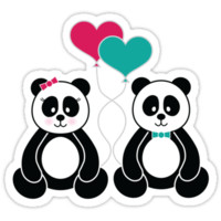 Panda Freefall in Pink by noondaydesign
